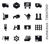 16 vector icon set   truck  box ... | Shutterstock .eps vector #728247043
