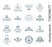 street food logo icons set.... | Shutterstock .eps vector #728258077