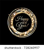happy new year greeting card | Shutterstock .eps vector #728260957