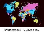 color world map | Shutterstock .eps vector #728265457
