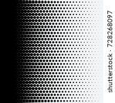 halftone dots on white...   Shutterstock .eps vector #728268097