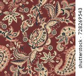 paisley vector seamless pattern.... | Shutterstock .eps vector #728269543