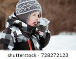Cute Little Boy In Winter...