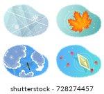 four seasons. vector...   Shutterstock .eps vector #728274457