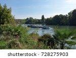 Barge On Seine River In Seine...