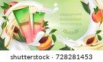 essential cream ads  shampoo... | Shutterstock .eps vector #728281453