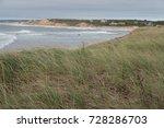 coastline view overlooking sand ... | Shutterstock . vector #728286703