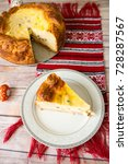 romanian easter cheesecake with ... | Shutterstock . vector #728287567