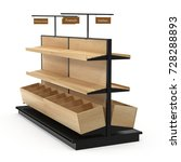 bread display racks for stores... | Shutterstock . vector #728288893