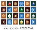 advent calendar with christmas... | Shutterstock .eps vector #728292667