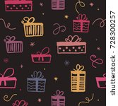 seamless pattern with colorful... | Shutterstock .eps vector #728300257