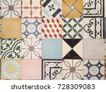 a floor of an old house in... | Shutterstock . vector #728309083
