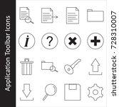 application toolbar icons set | Shutterstock .eps vector #728310007