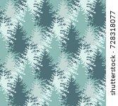 seamless christmas trees... | Shutterstock .eps vector #728318077