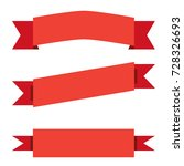 three red ribbon banner on... | Shutterstock .eps vector #728326693
