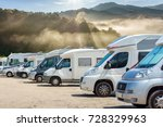Close Up Motorhomes Parked In ...
