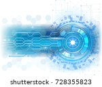 vector abstract technology... | Shutterstock .eps vector #728355823