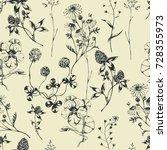 vector seamless floral pattern... | Shutterstock .eps vector #728355973