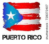 flag of puerto rico from brush... | Shutterstock .eps vector #728372407
