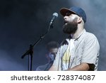 Small photo of FARO, PORTUGAL: 2nd SEPTEMBER, 2017 - Music band, You can't win, Charlie Brown, performs on Festival F, a big festival on the city of Faro, Portugal.