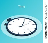 isometric time stopwatch flat...   Shutterstock .eps vector #728378647