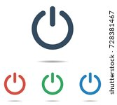 power button icon set   simple... | Shutterstock .eps vector #728381467