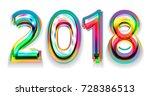 happy new year 2018 calendar... | Shutterstock .eps vector #728386513