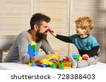 family and childhood concept.... | Shutterstock . vector #728388403