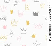 greeting card with crown. for... | Shutterstock .eps vector #728393647