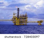 offshore oil and gas processing ... | Shutterstock . vector #728403097