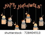 halloween poster with candy... | Shutterstock .eps vector #728404513