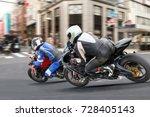 city biker gangs in downtown.   Shutterstock . vector #728405143