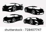 sports car illustration 3d | Shutterstock .eps vector #728407747