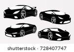 sports car illustration 3d   Shutterstock .eps vector #728407747