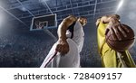 basketball players on big... | Shutterstock . vector #728409157