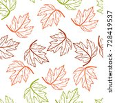 seamless pattern of green ... | Shutterstock .eps vector #728419537