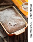 rustic chocolate cake with nuts ... | Shutterstock . vector #728428603