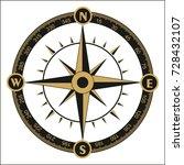 wind rose compass vector symbol.... | Shutterstock .eps vector #728432107