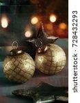 festive antique christmas balls ...
