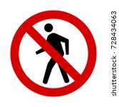 no pedestrian sign | Shutterstock .eps vector #728434063