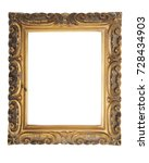 antique picture frames isolated ... | Shutterstock . vector #728434903