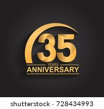 35 years anniversary... | Shutterstock .eps vector #728434993