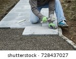 worker hammering the stone...   Shutterstock . vector #728437027