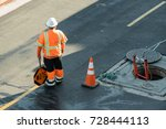 a real authentic construction... | Shutterstock . vector #728444113