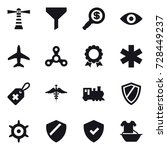 16 vector icon set   lighthouse ...