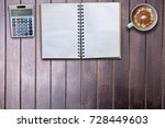 copy space blank book and... | Shutterstock . vector #728449603