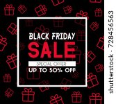 black friday sale banner.... | Shutterstock .eps vector #728456563