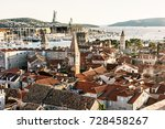 trogir is a historic town and... | Shutterstock . vector #728458267