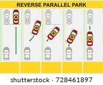 reverse parallel parking. flat... | Shutterstock .eps vector #728461897