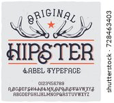vintage label typeface named ... | Shutterstock .eps vector #728463403